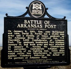 Arkansas Post is the site of a Civil War conflict that occurred on January 9th, 1863
