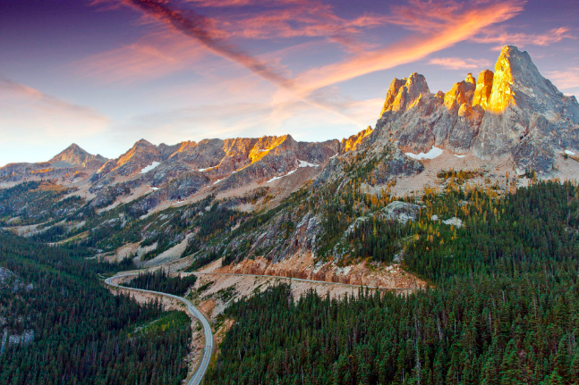 North Cascades National Park is an absolute beauty. It gets incredible amounts of snow and is also right next to Ross Lake National Recreation Area, which was also established in 1968