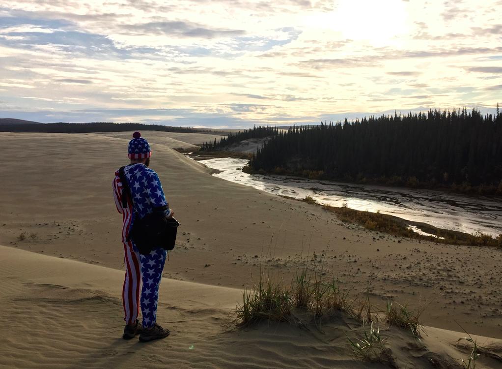 Trevor on the dunes
