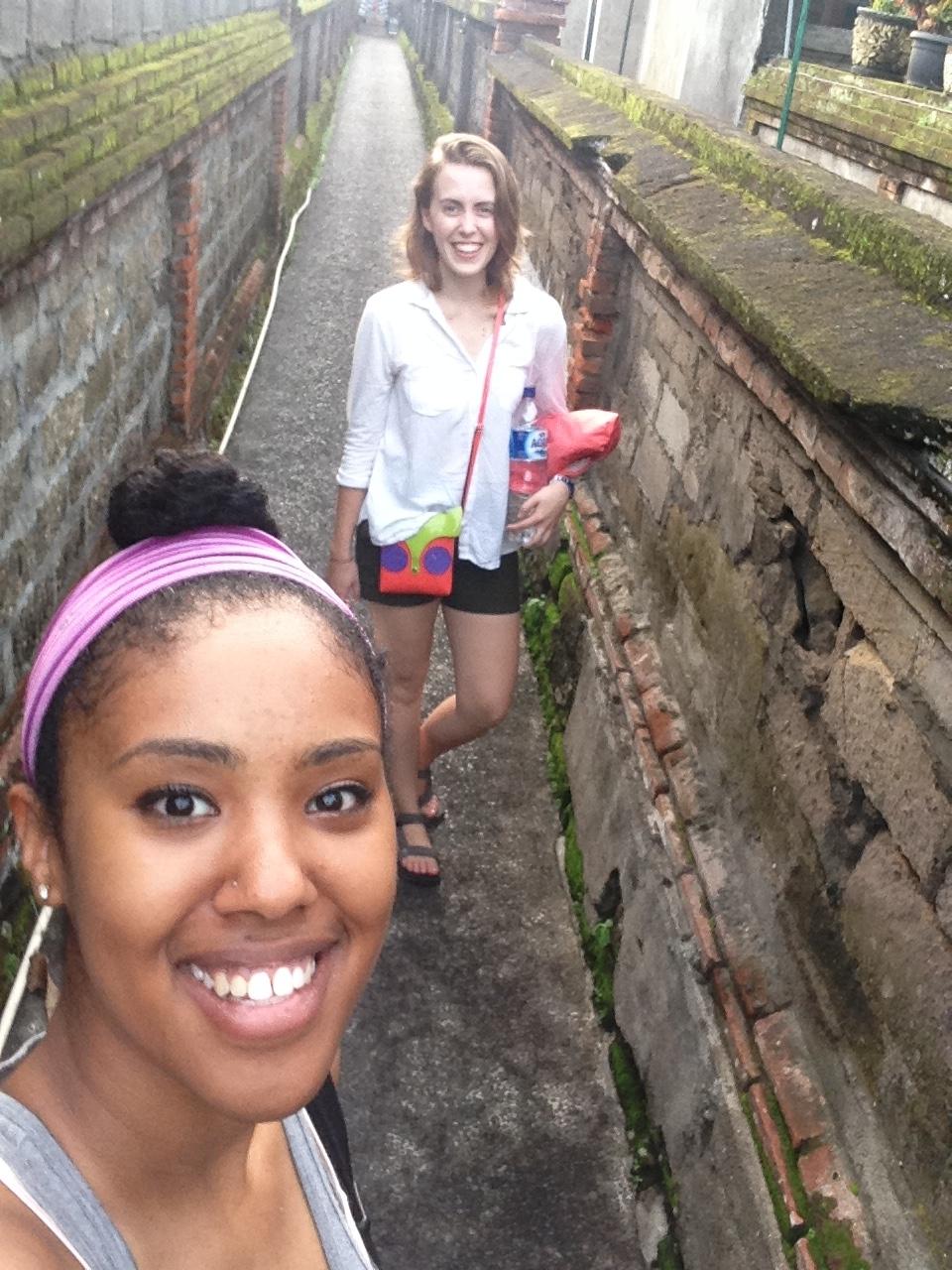 in the alleys of Ubud