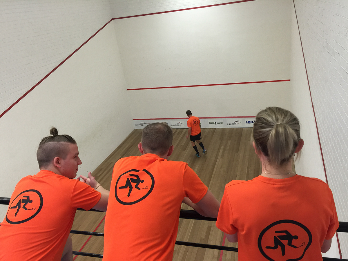 Our presence was felt with our Bendigo Squash Club shirts