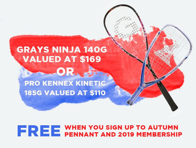 Racket is available in Pink or Black
