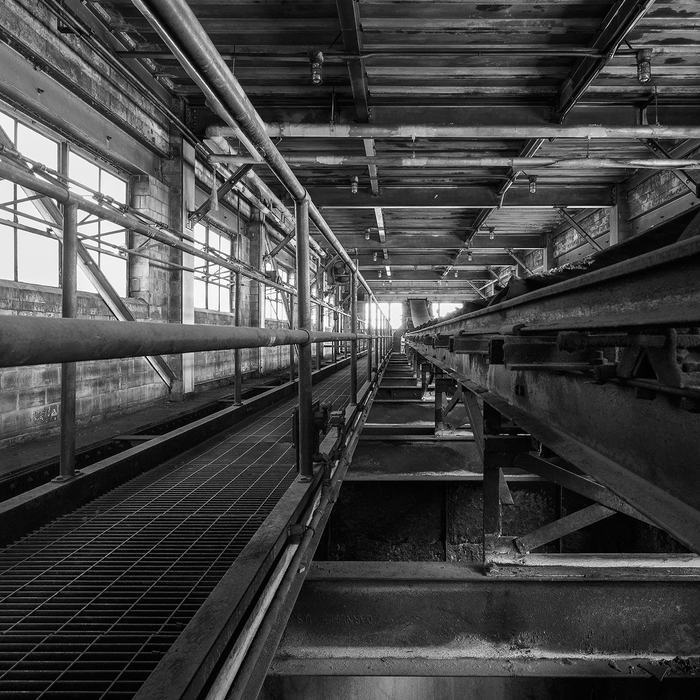 Cat Walk and Conveyor Belt for Coal Bins, Top floor, Boiler House