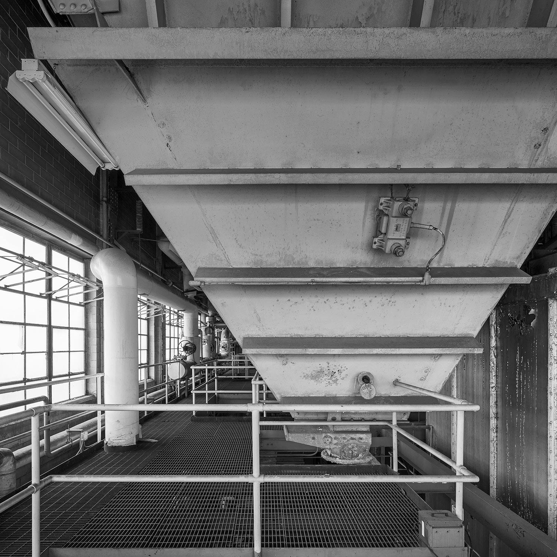Bottom of Coal Discharge Bin, 2nd floor, Boiler House