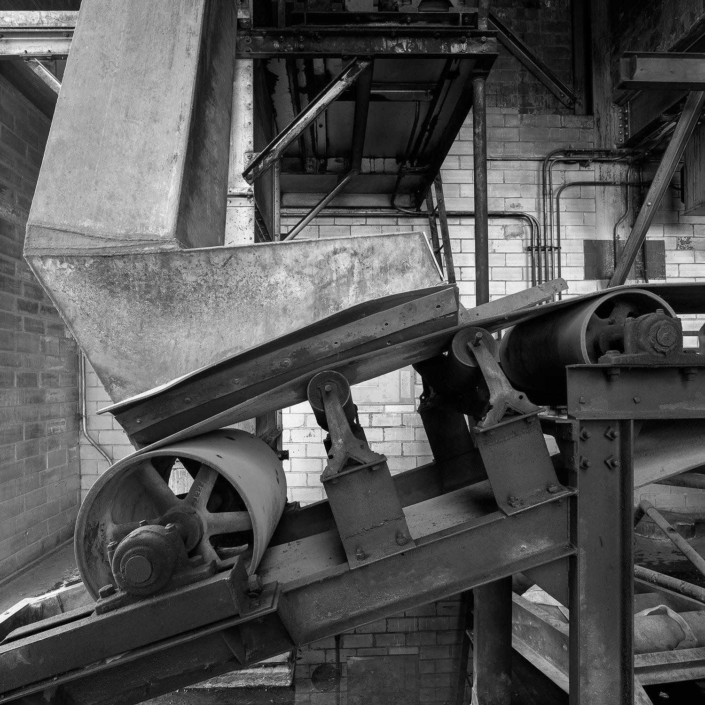 Coal Bucket Elevator, top floor, Boiler House