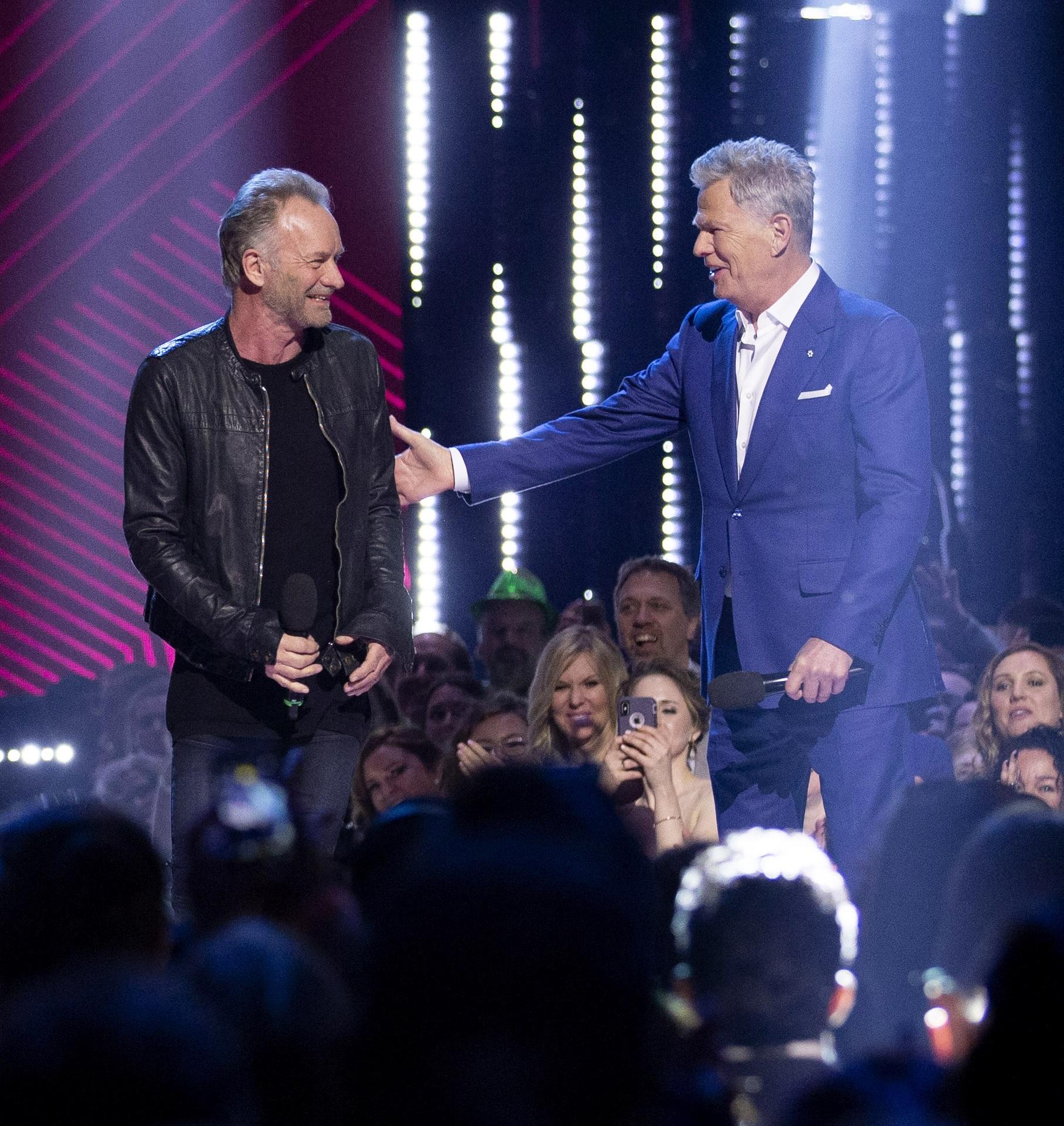 Sting and David Foster - 2019 JUNO Awards.