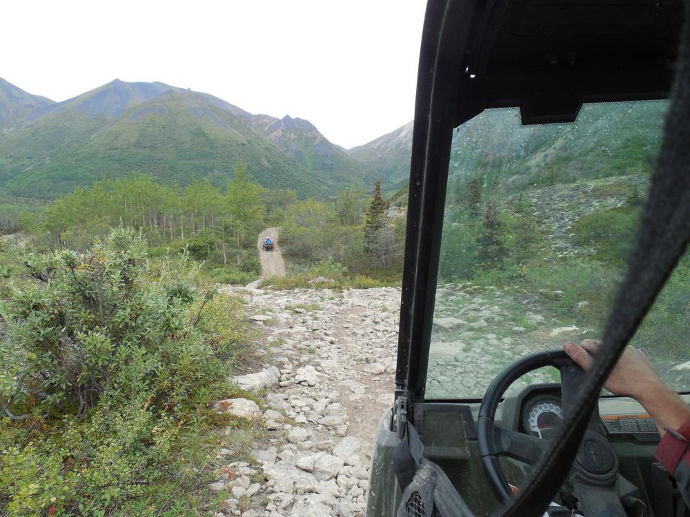 Rocks, Hills and mud make up the Boulder Trail