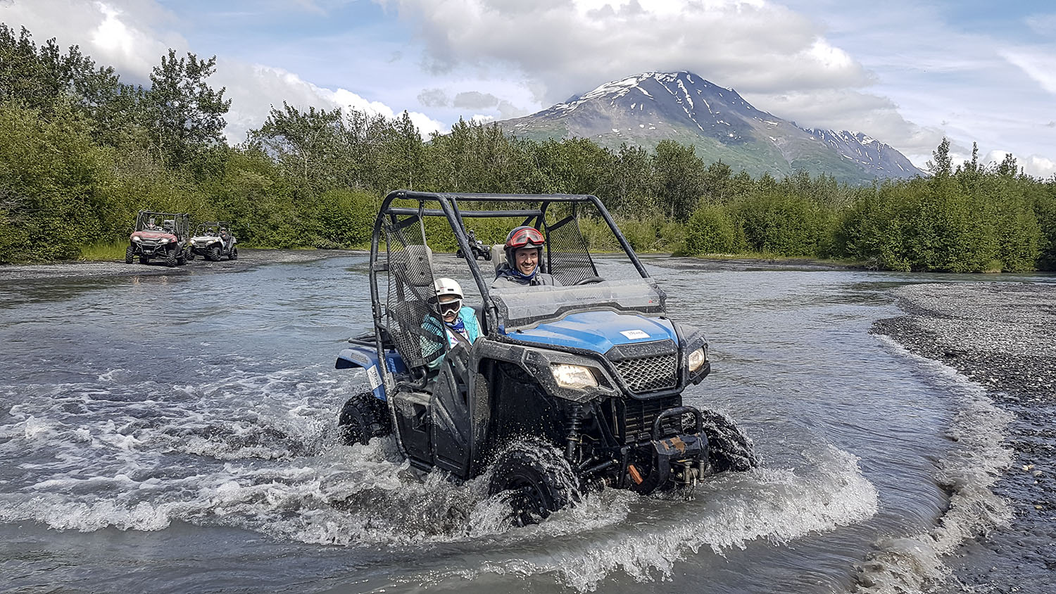 Dad and daughter make Knik River Valley water crossing