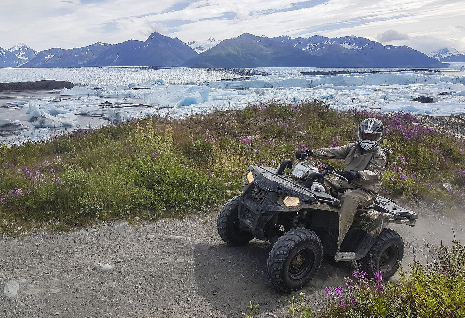 ATV Rider at Knik Glacier