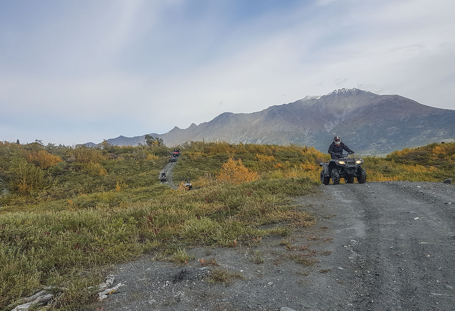 Off-Road ATV Rider in the Knik River Valley