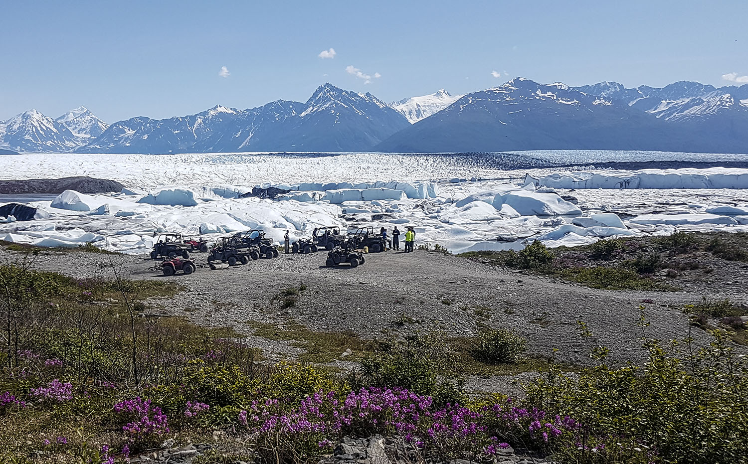 Lunch at the Knik Glacier