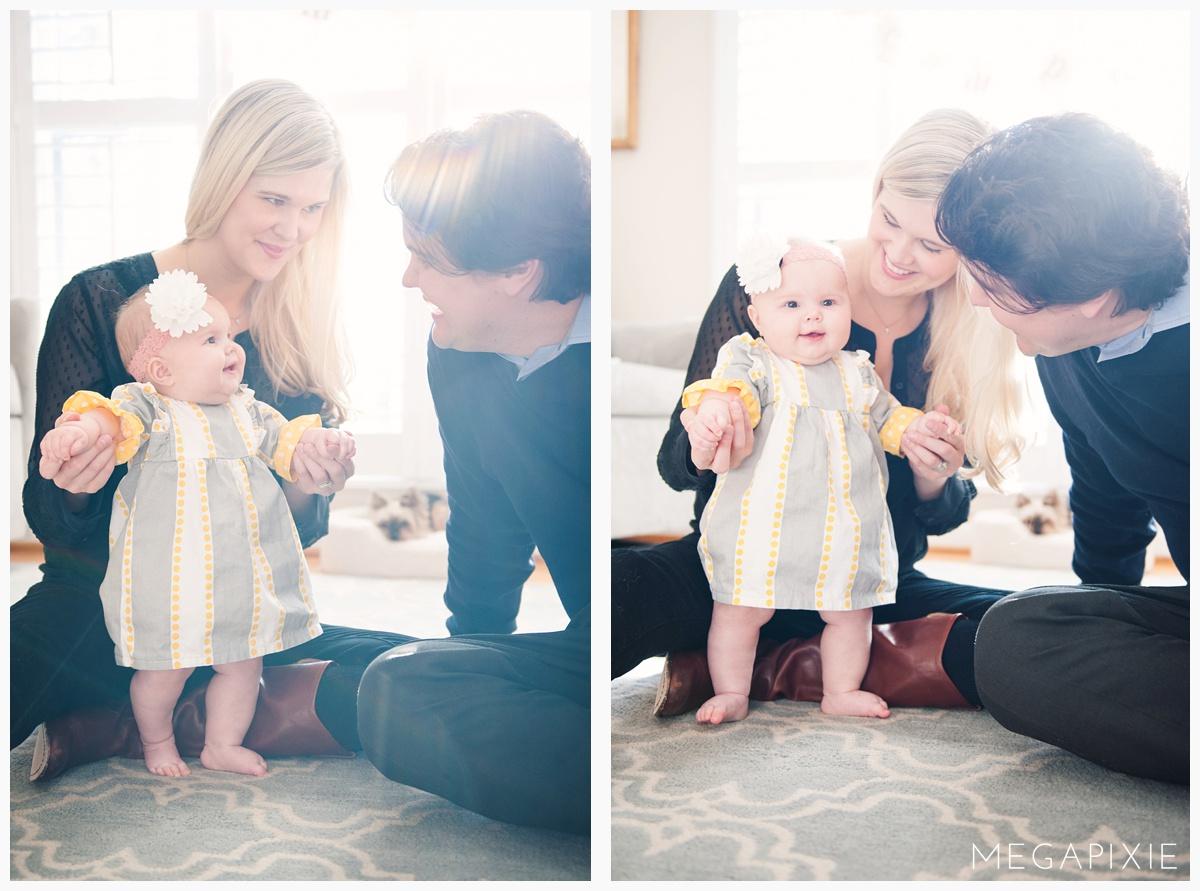 Color pop clothing family portrait session