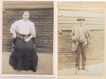 Left: Sarah Maltinsky, date unknown. Right: Mendel Maltinsky, date unknown.