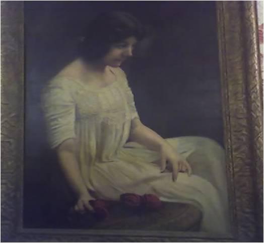 Tisha Maltinsky, portrait, painted before 1916.