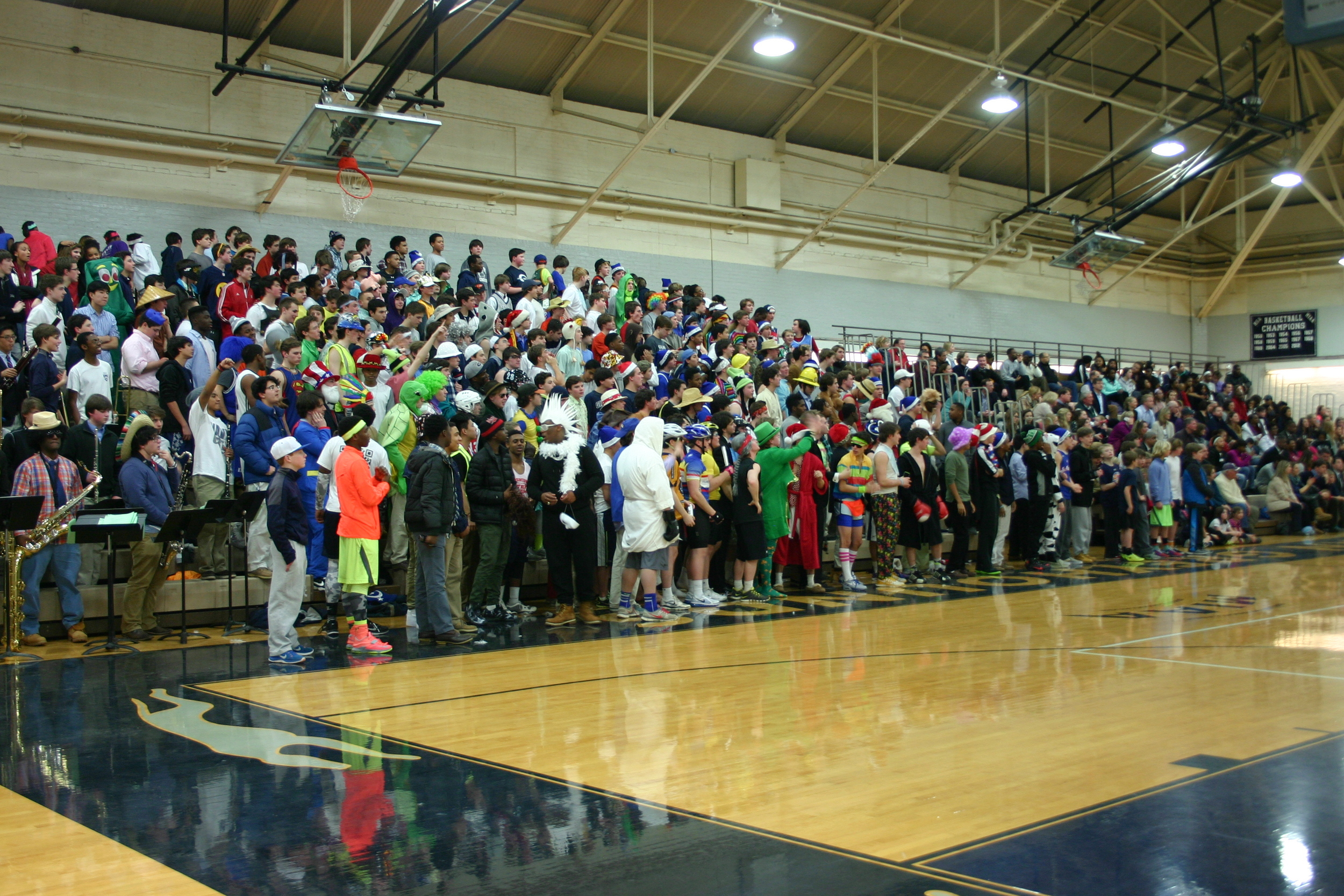 Gilman's 3rd Annual Silent Night Basketball Game.  Photo by Luke Wulff