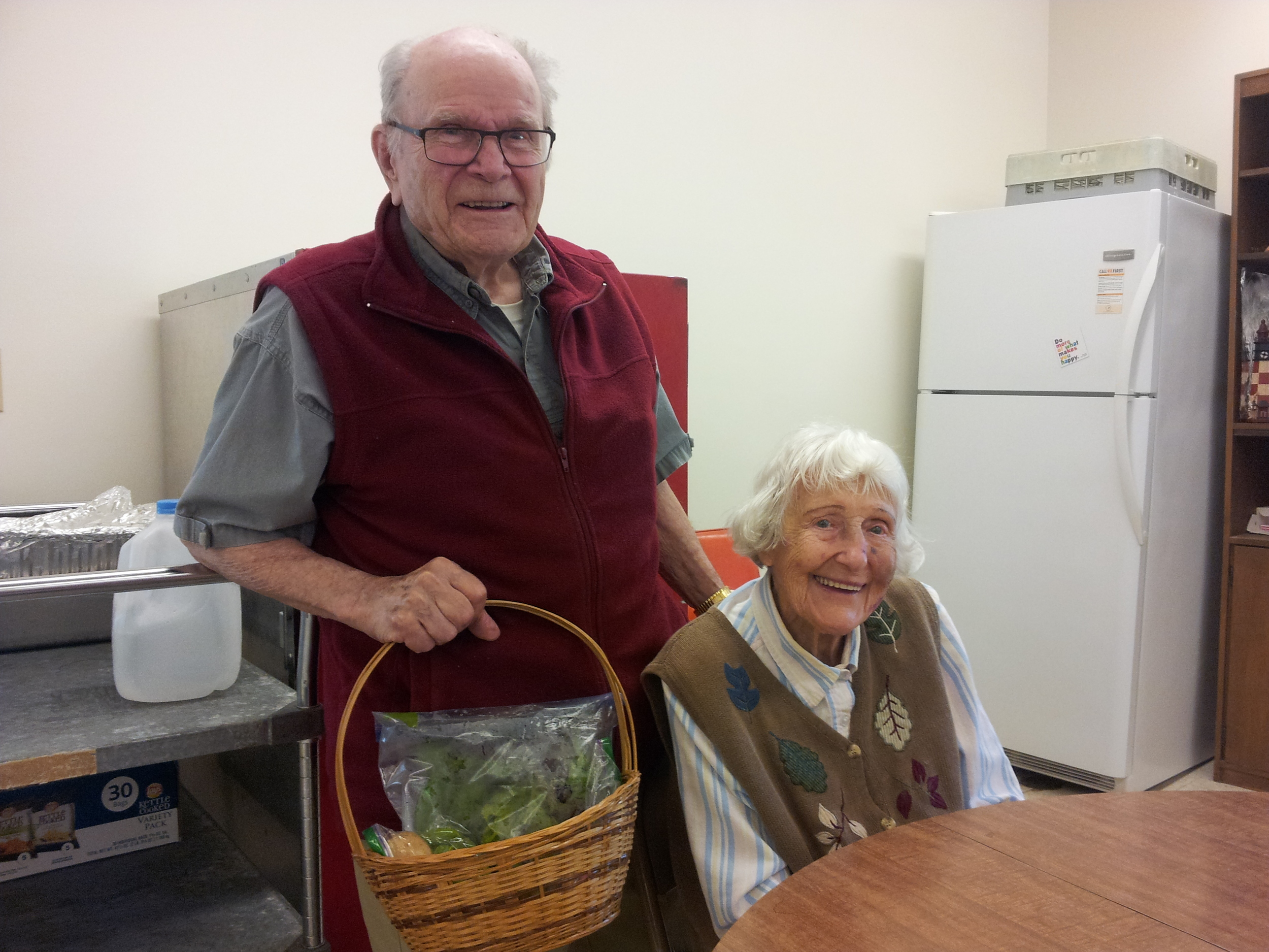 We asked Leo and Ms Helen to give our produce a try and they were very happy to do so!