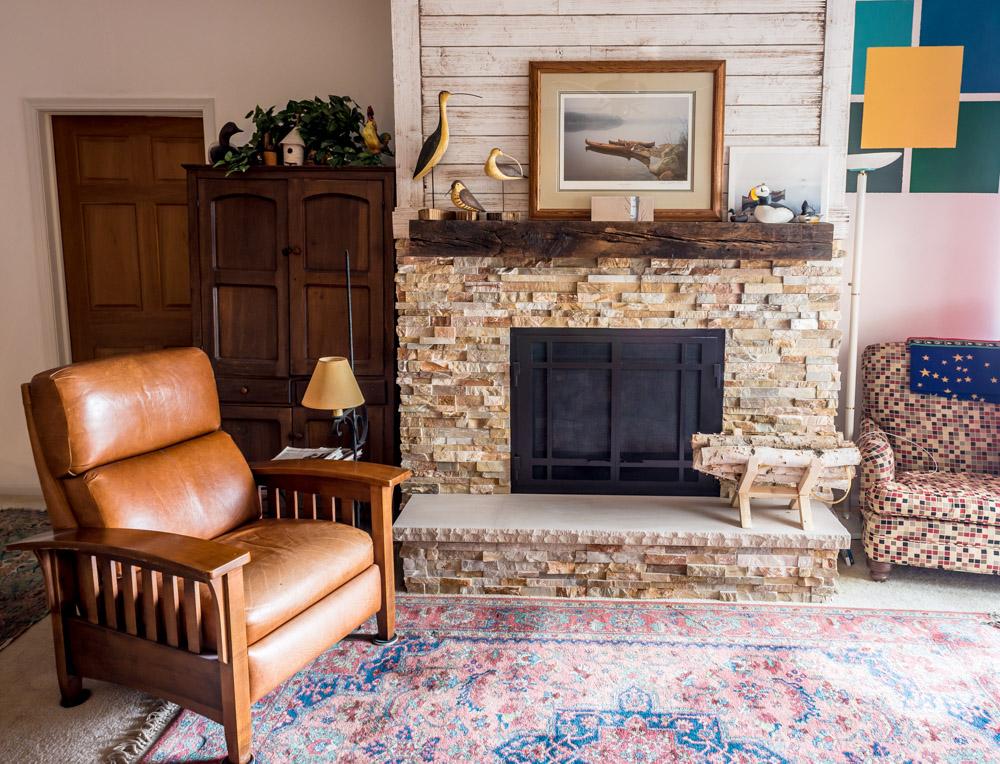 MKE Design Build - cozy fireplace  living room fireplace remodel. www.mkedesignbuild.com