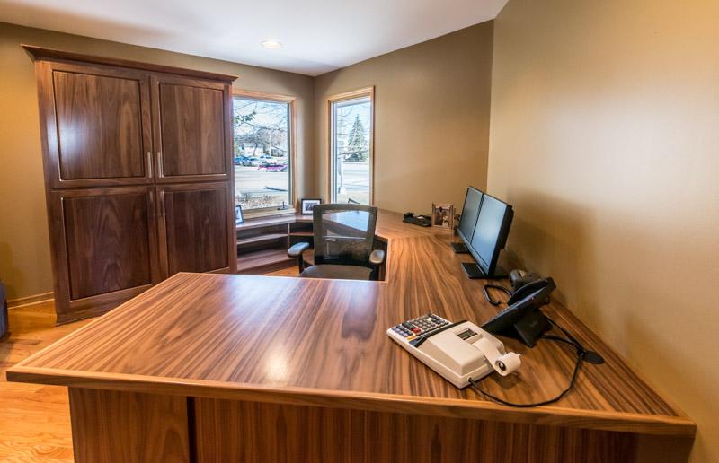 MKE Design Build - desk detail.  building renovation. www.mkedesignbuild.com