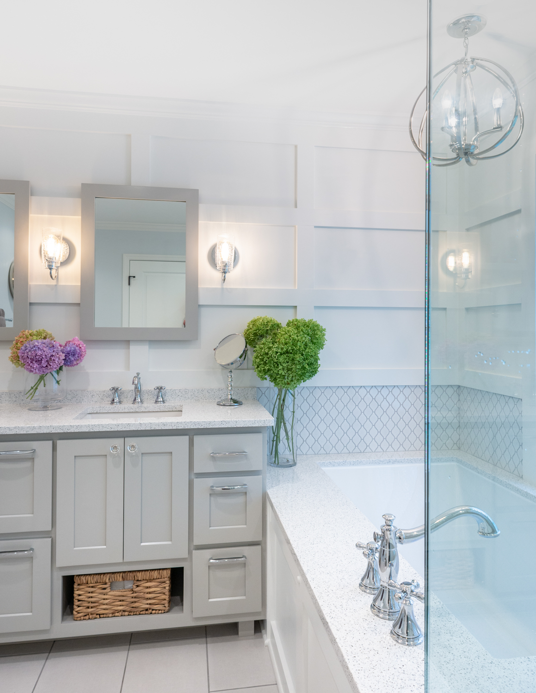 MKE Design Build - fresh & clean  bathroom renovation. www.mkedesignbuild.com