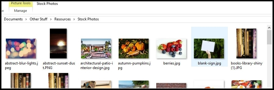 Every designer should start collecting stock photos to use in projects, whether self-taken or found online