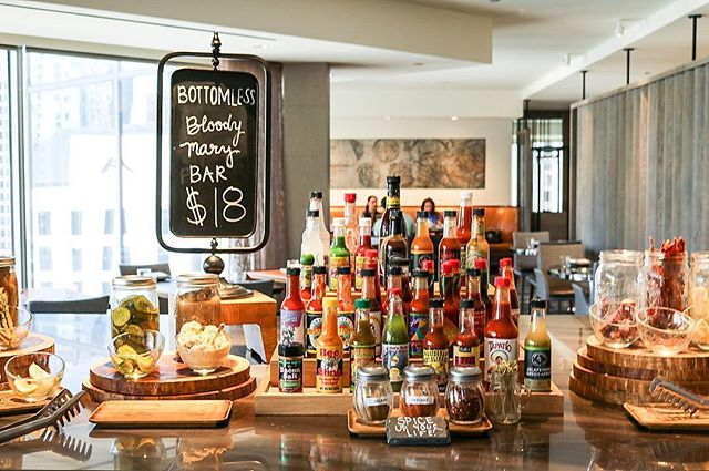 The Bottomless Bloody Mary Bar @baptistechicago is 💪🏼 #GetThere
