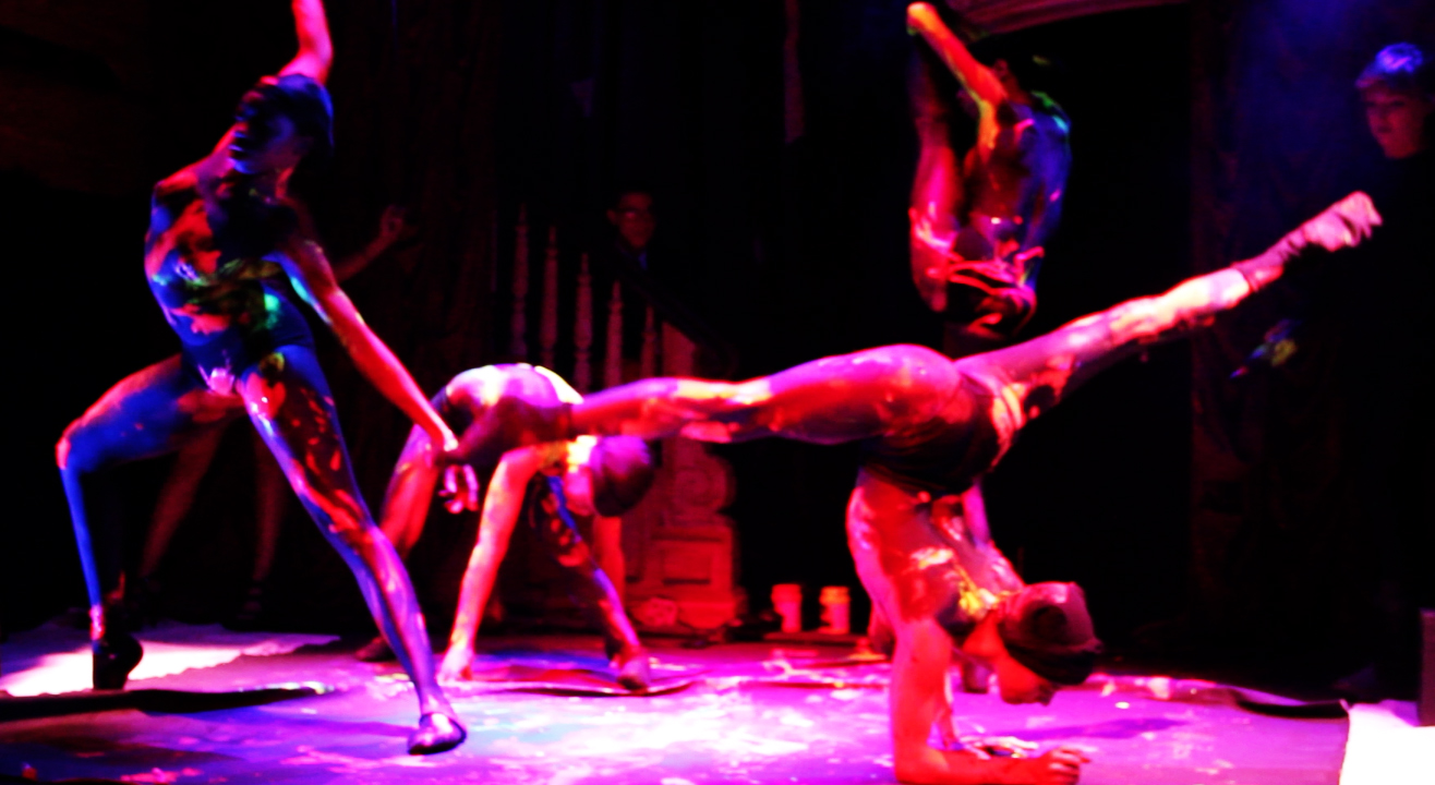 """snapshot taken at NYC's """"The Box"""", during a live finale performance choreographed and art directed by Cass, and her amazing team of dancers. (Love & Paint Gallery Event, The Box - NYC)"""
