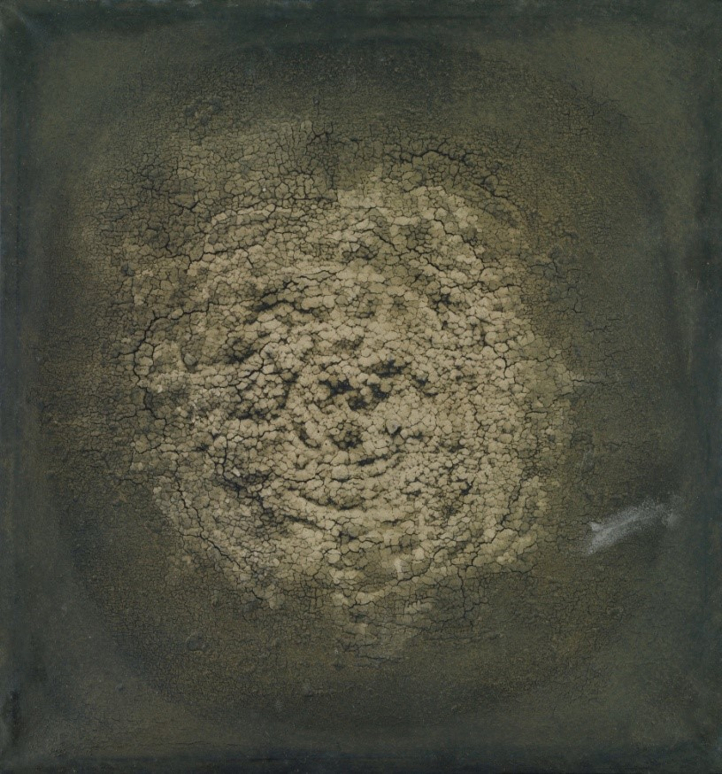 Fig. 7 C/O MOMA   Untitled , 1963, Dried earth on canvas