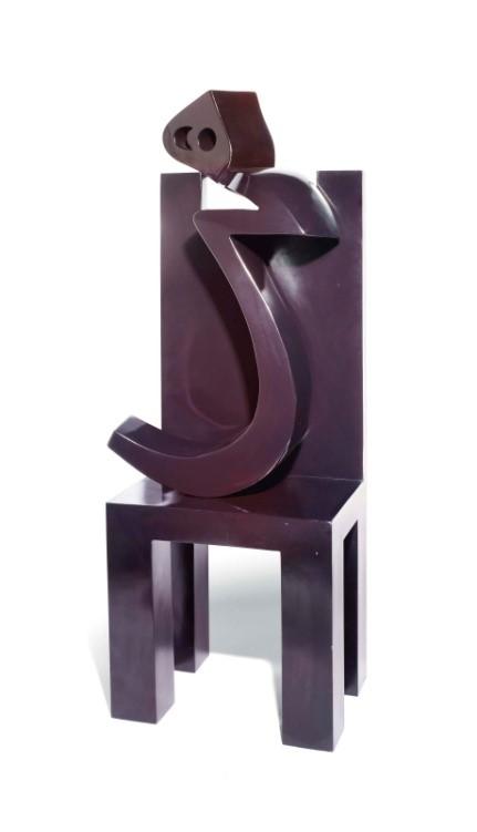 Fig. 8 C/O Christies   Heech on chair , 2007, fiberglass