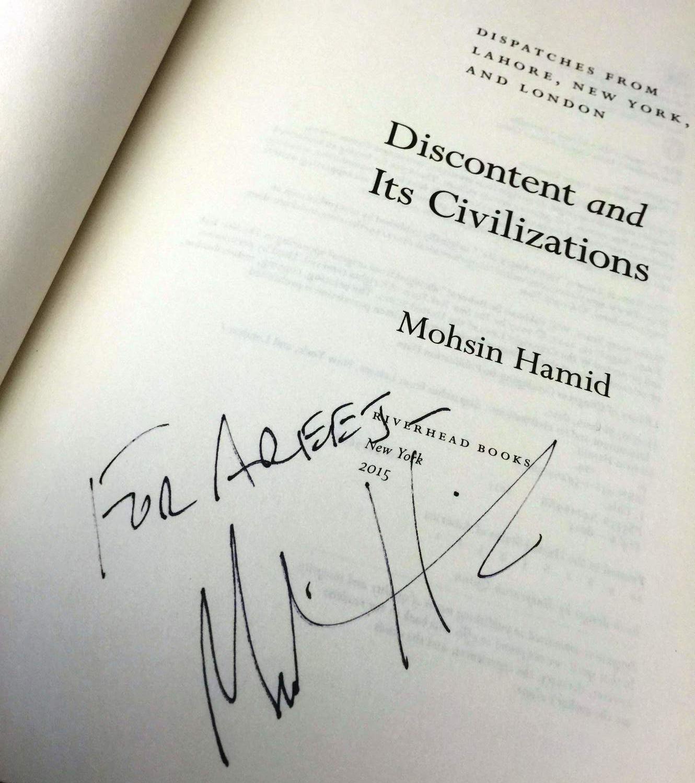 """""""For Areej"""" -Mohsin Hamid :)"""