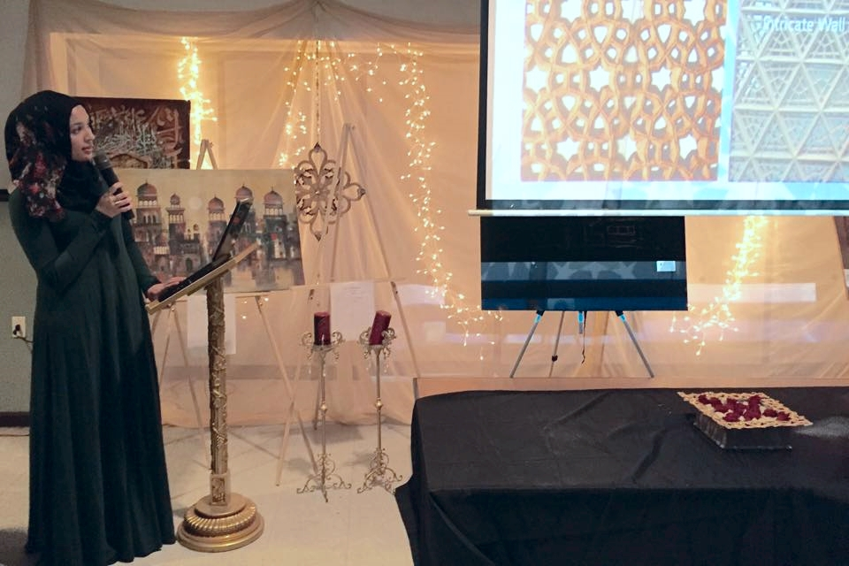 Giving a talk on the Beauty of Islamic Architecture & Geometric Design