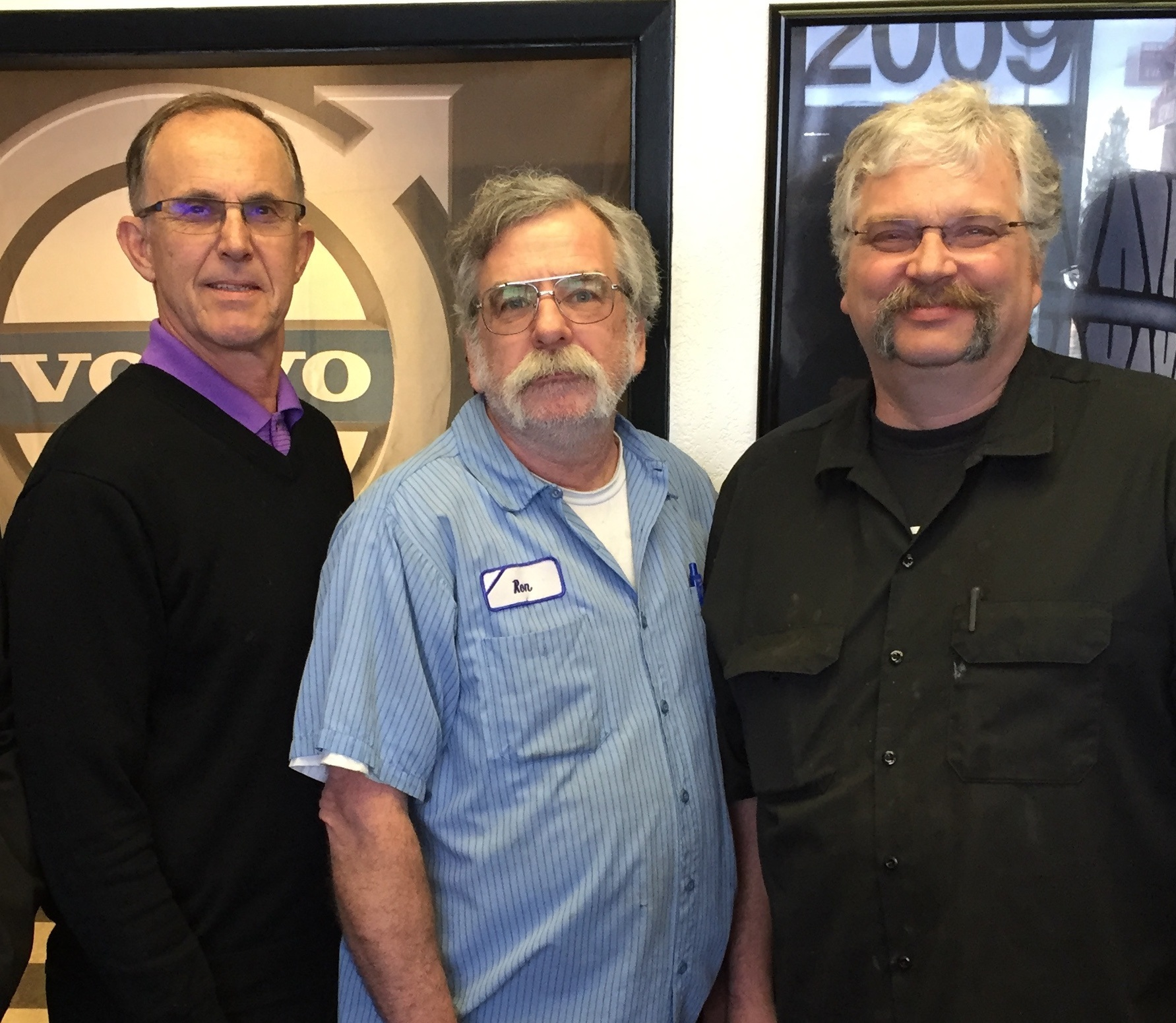 Left to Right: General Manager and President/Founder Robert Marcello, Technician Ron Flynn, and Production Manager Chuck Lawless.