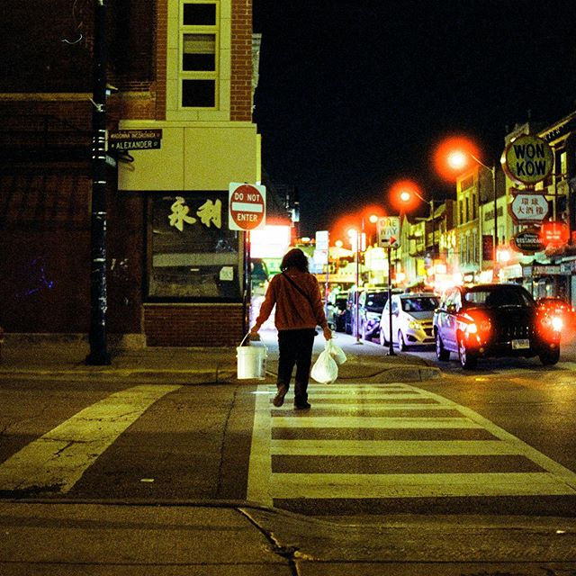 She walks alone at night. What struggles do you hide from everyone? Shot on @cinestillfilm #cinestill800t #35mm processed and scanned at @duryscamerastore