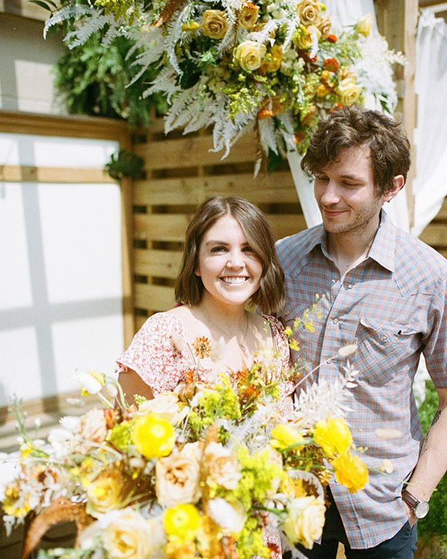 Got to snap a few shots of @joehutchinson's proposal to @ashh.davidson and I still want to weep. Shot on @kodak  #portra400 #35mm  Thanks to @maryloverichardson for making the flower situation 🥇 and to @falconcoffeebar and @theflamingonashville for hooking it up!