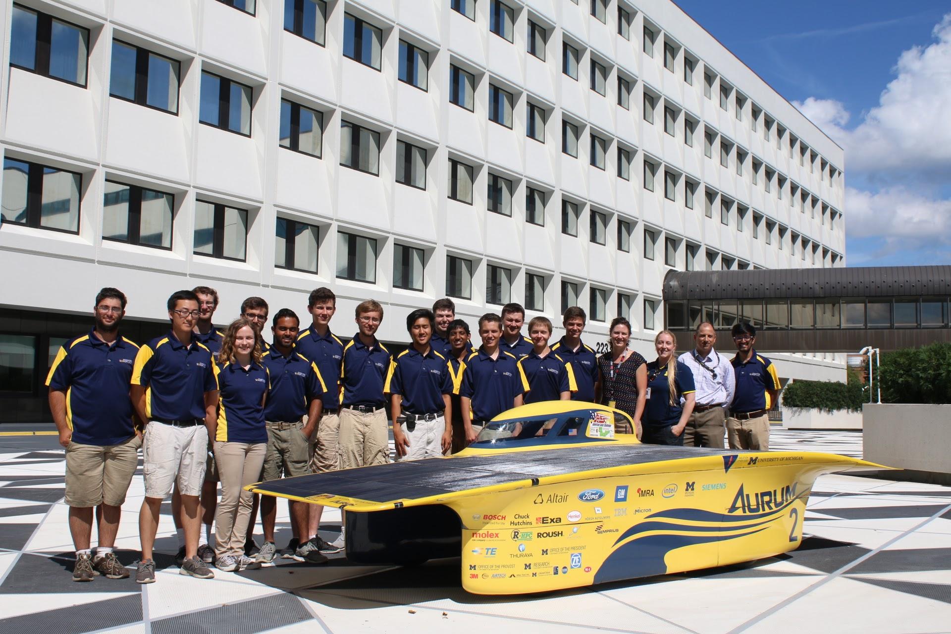 UM Solar's 2016 ASC Race Crew at 3M headquarters in St. Paul, Minnesota.