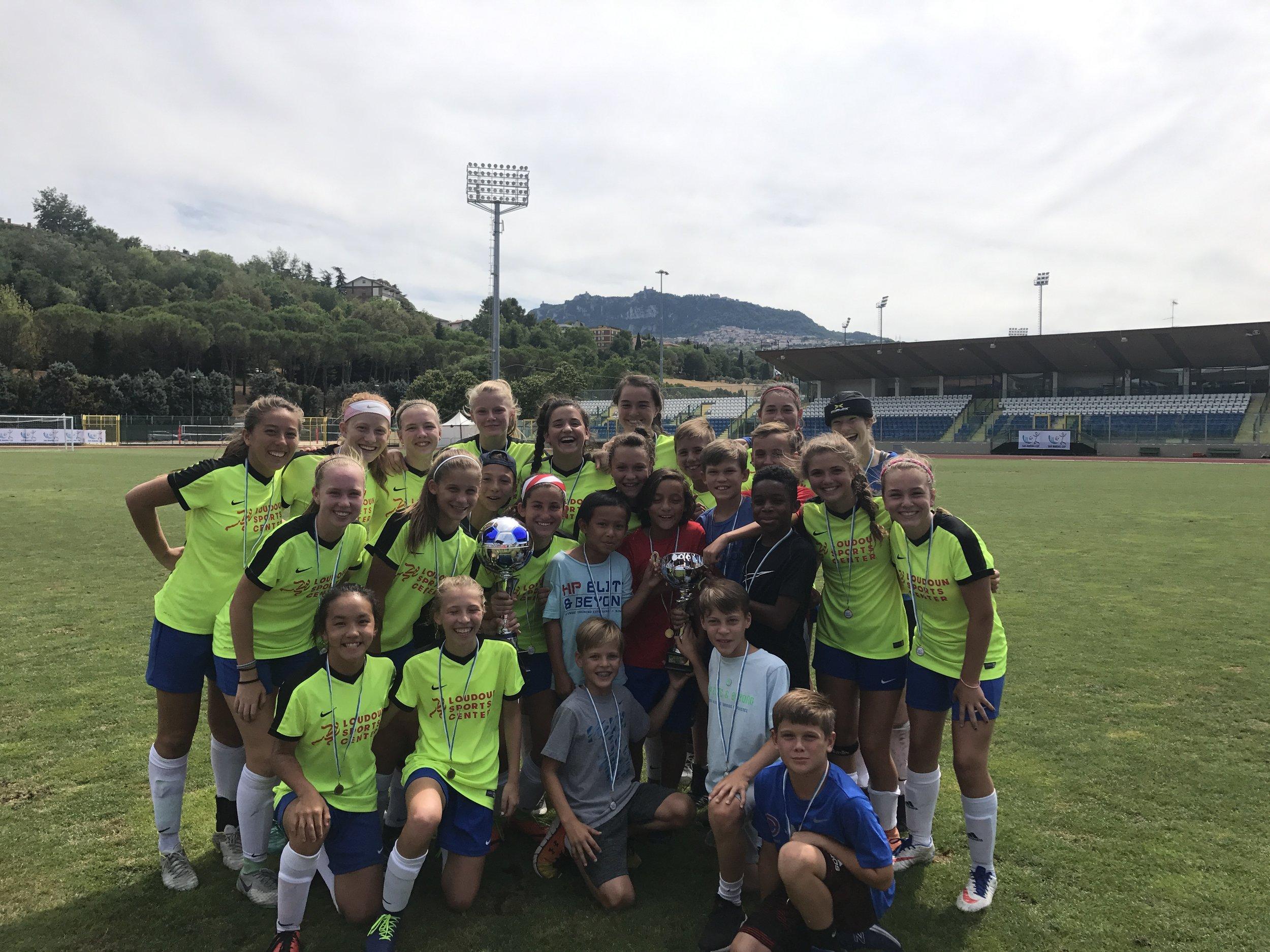 HP Elite & Beyond 2002/2003 GIRLS - San Marino Cup Champions!!