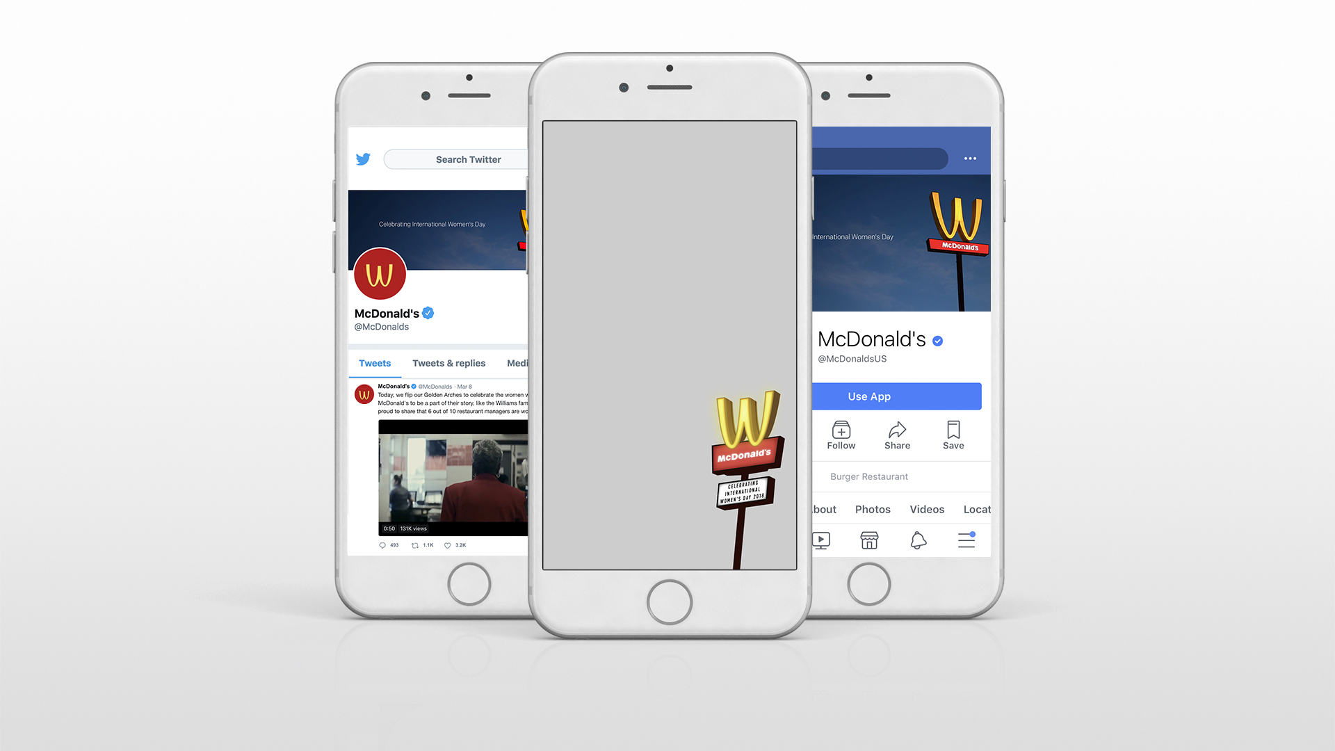 The Golden Arches were flipped on all social channels and a Snapfilter was available in restaurants nationwide.