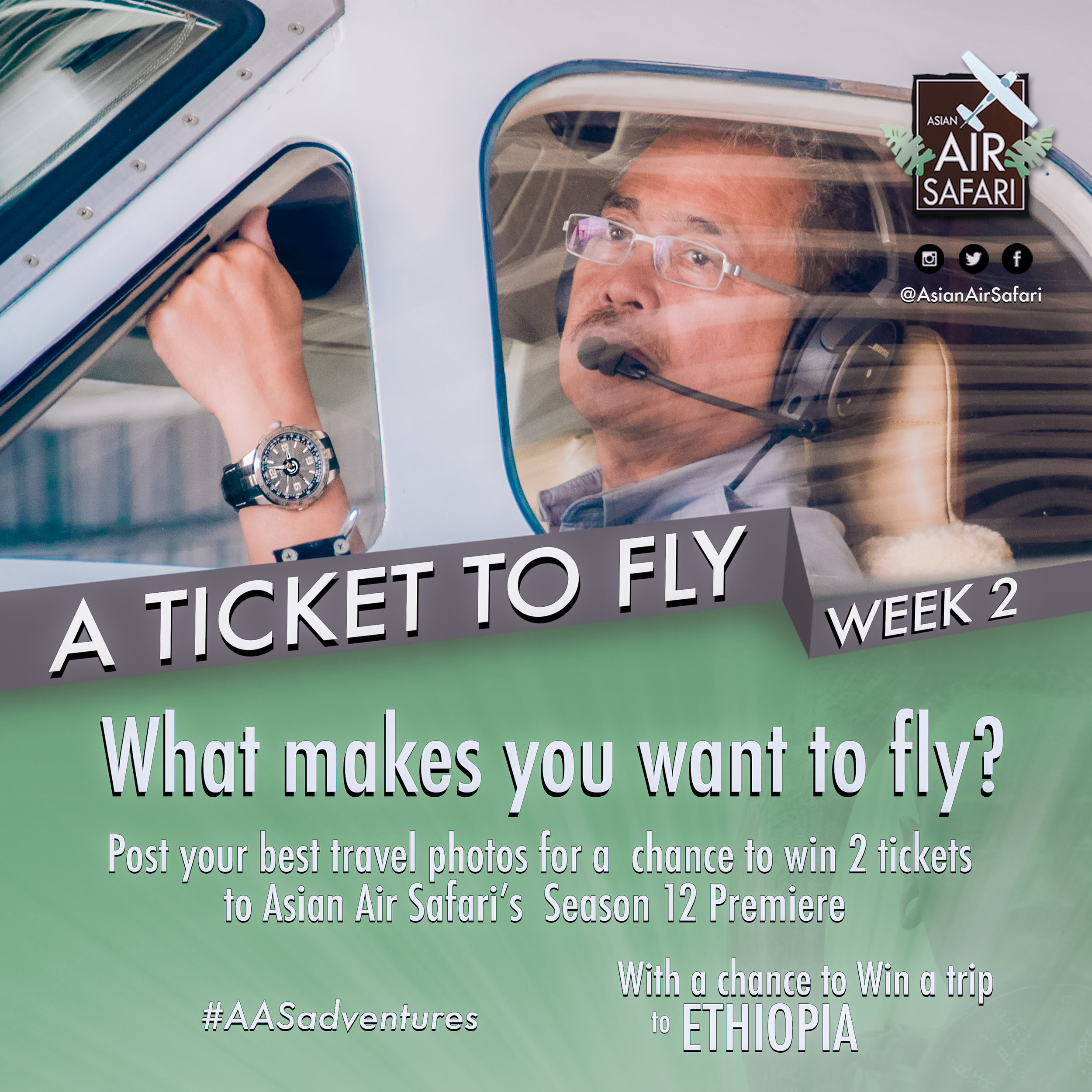 A Ticket to Fly: Join Asian Air Safari's photo contest for a chance to fly to Ethiopia! - Asian Air Safari, a flying-adventure travel show that airs weekly on the ABS-CBN News Channel, is launching its 12th season with an exclusive cinema premiere on May 23, 2017.