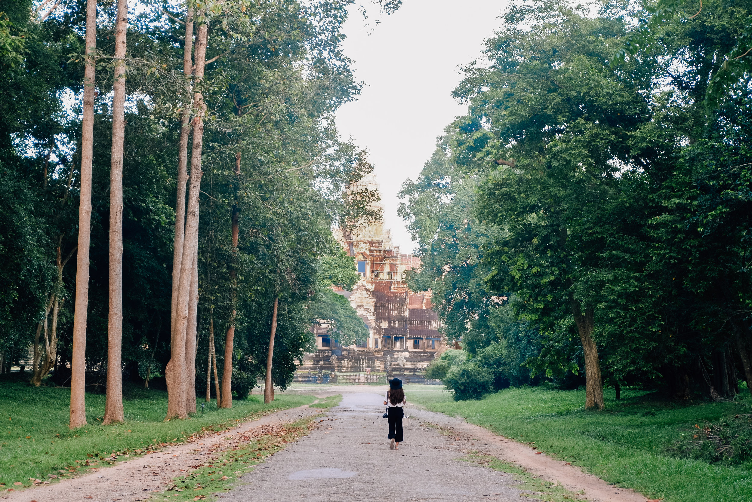 The pathway towards the temple