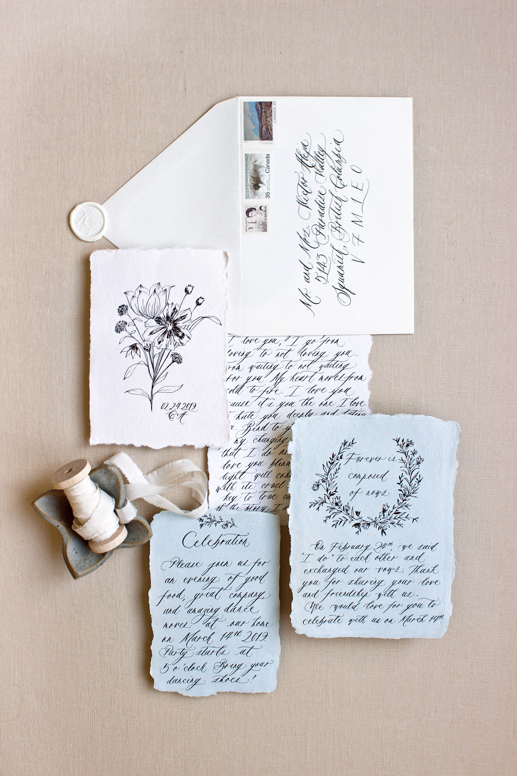 Fine Art Wedding Calligraphy by Ayla Peña