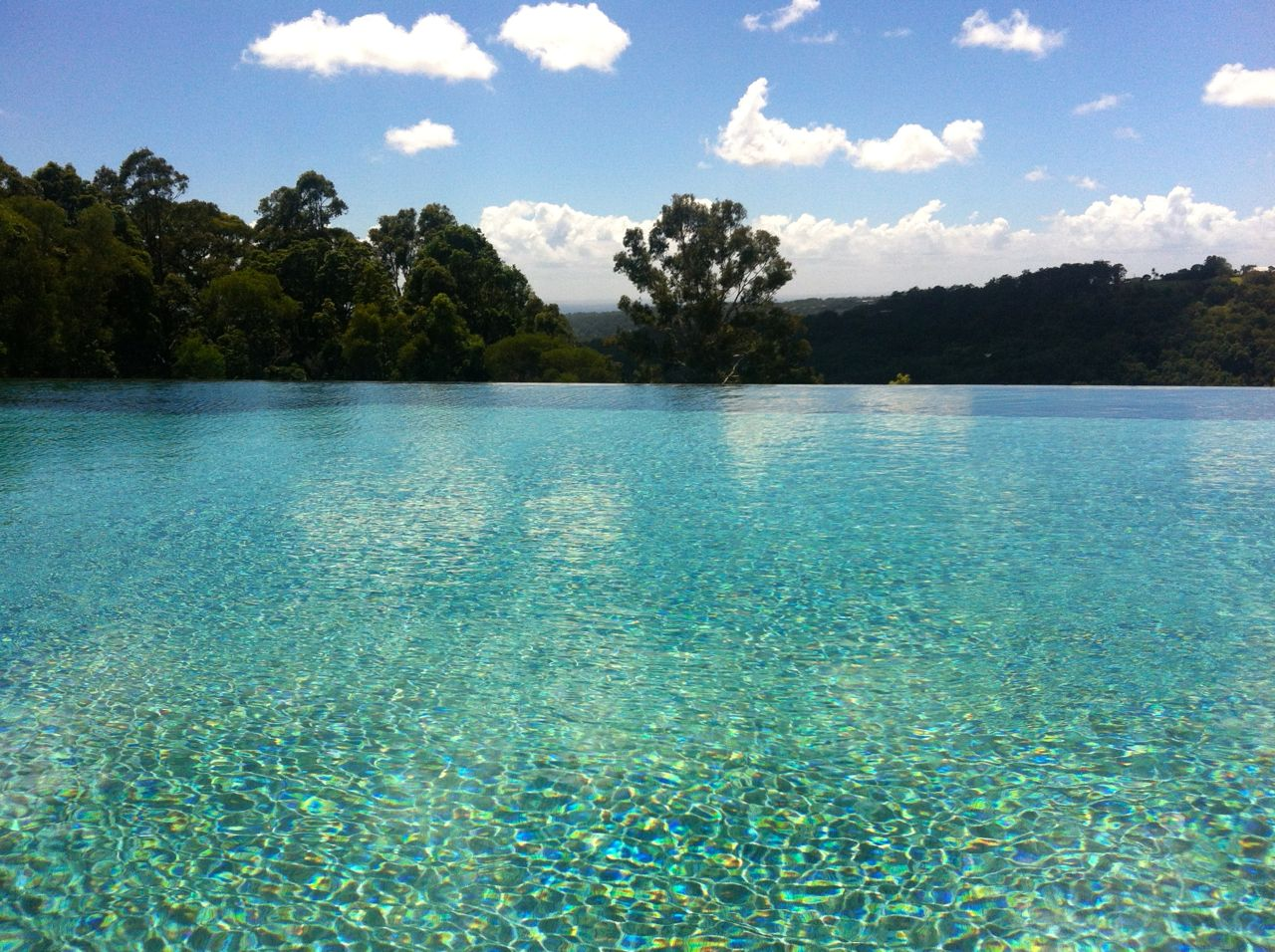 Infinity pool at Gwinganna - Swim whilst looking out over the rainforest below