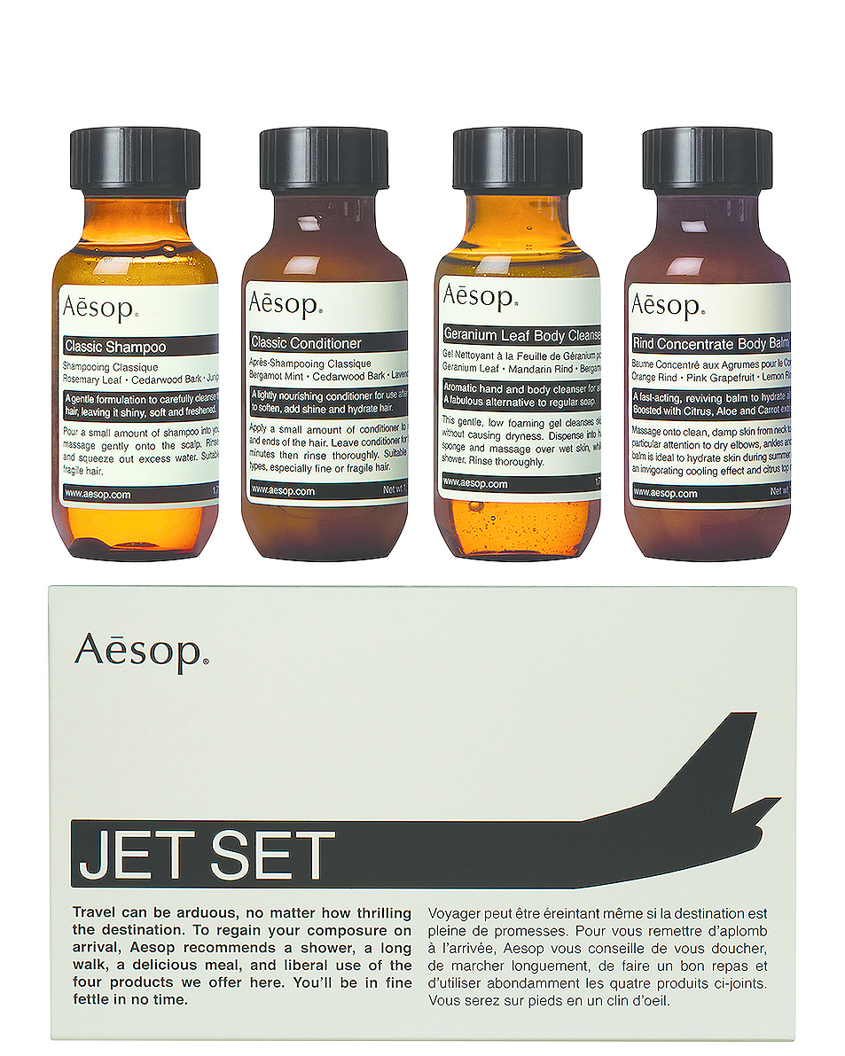Grooming Essentials    AESOP Jet Set Kit   AU$ 52.90 (aesop.com/au)