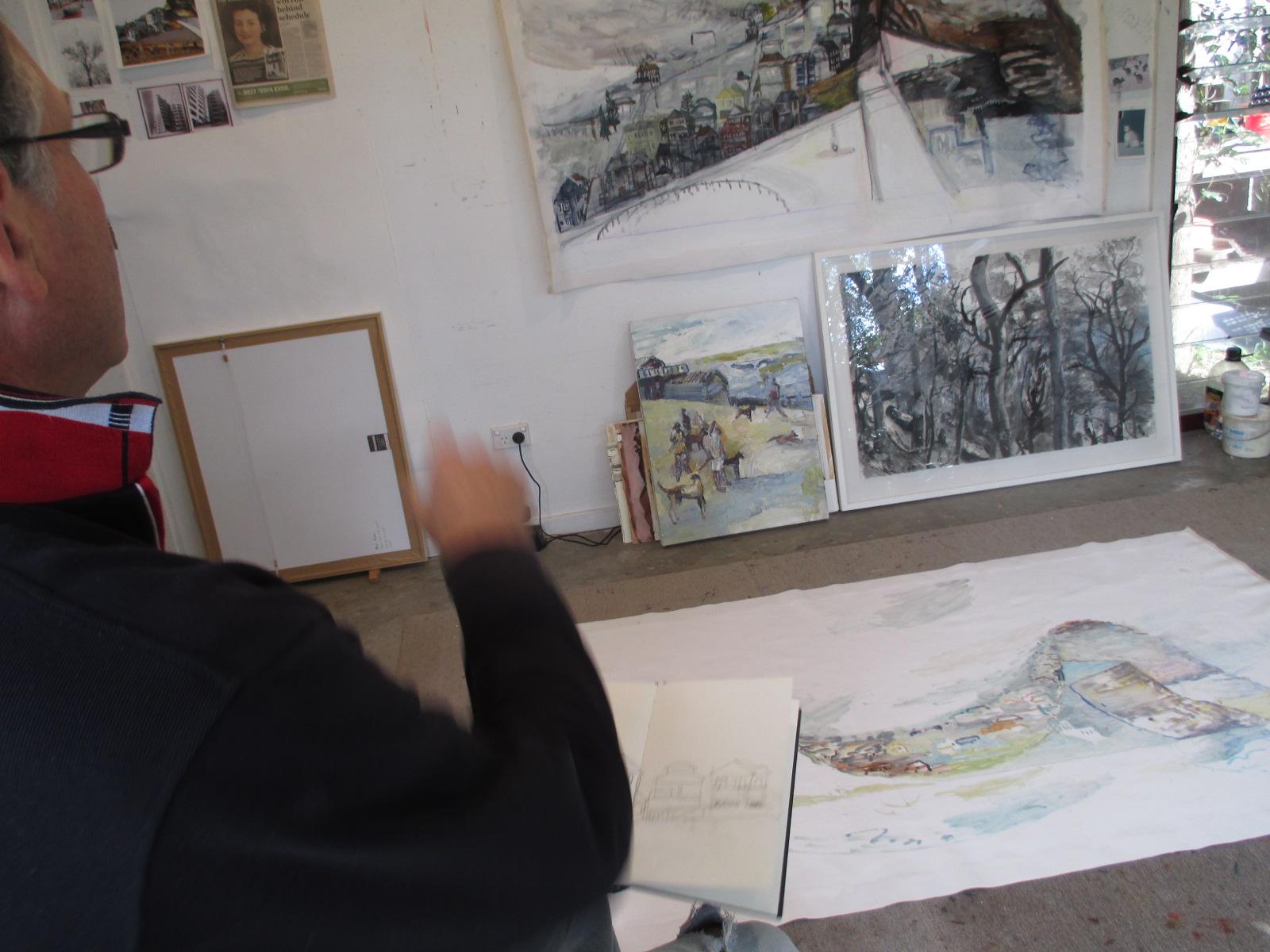 Paul in his home studio earlier in 2015