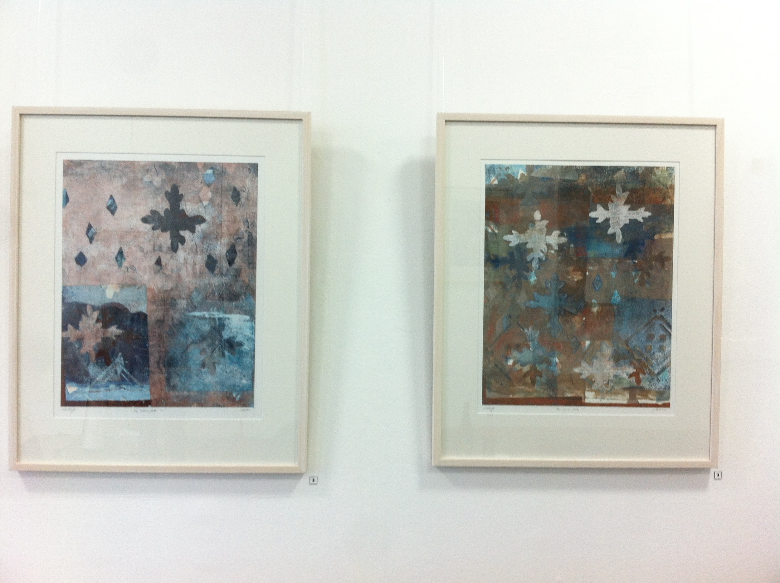 Example of gouache monotype works by Helene Leane