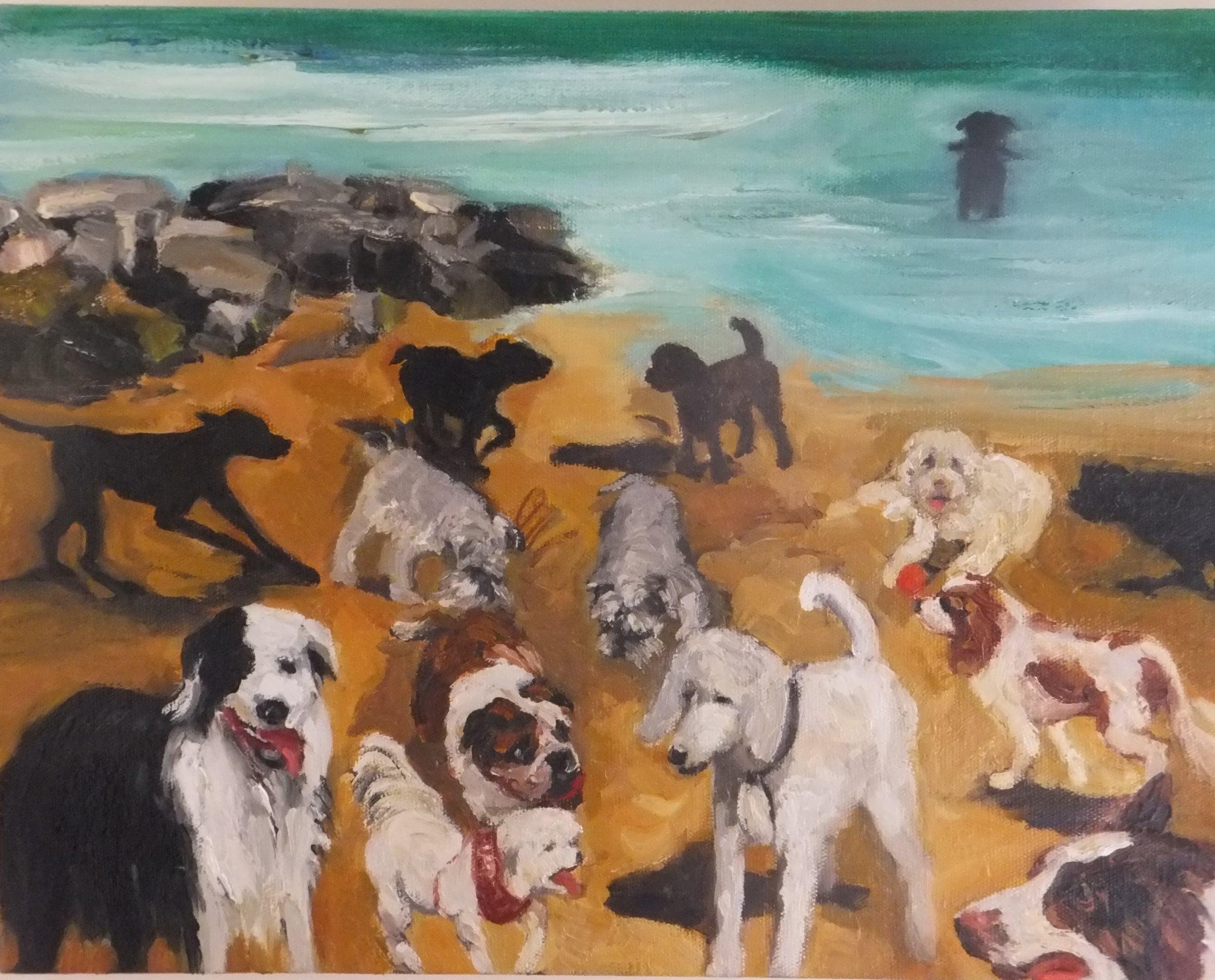 Lydia Miller_Sunday at Horseshoe Beach_oil on canvas_36 x 46 cms.JPG