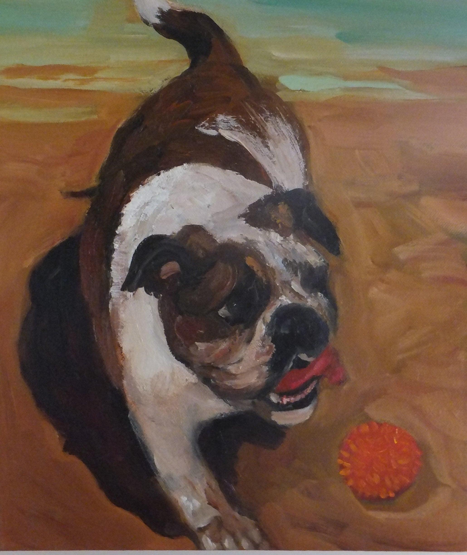 Lydia Miller_My Ball_oil on canvas_40 x 30 cms.JPG