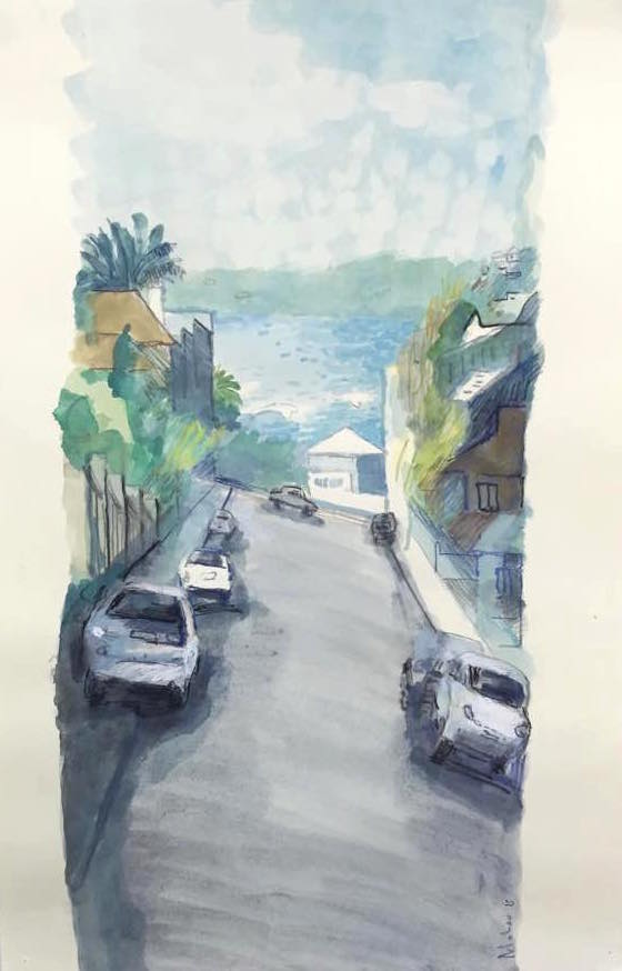 Light Street 1 mixed media on archival paper 58cm x 37cm  $220.00