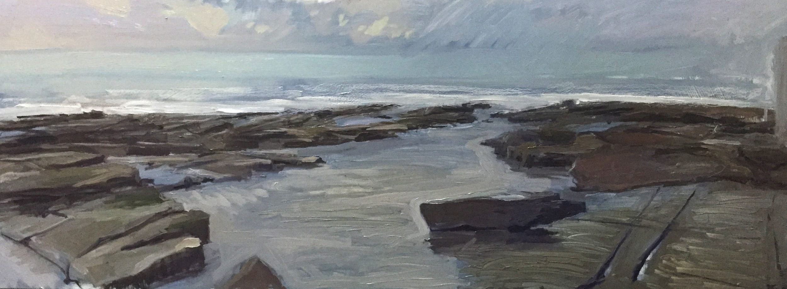 Merewether Beach 'en plein air' Sunday 17 April 2016 SOLD
