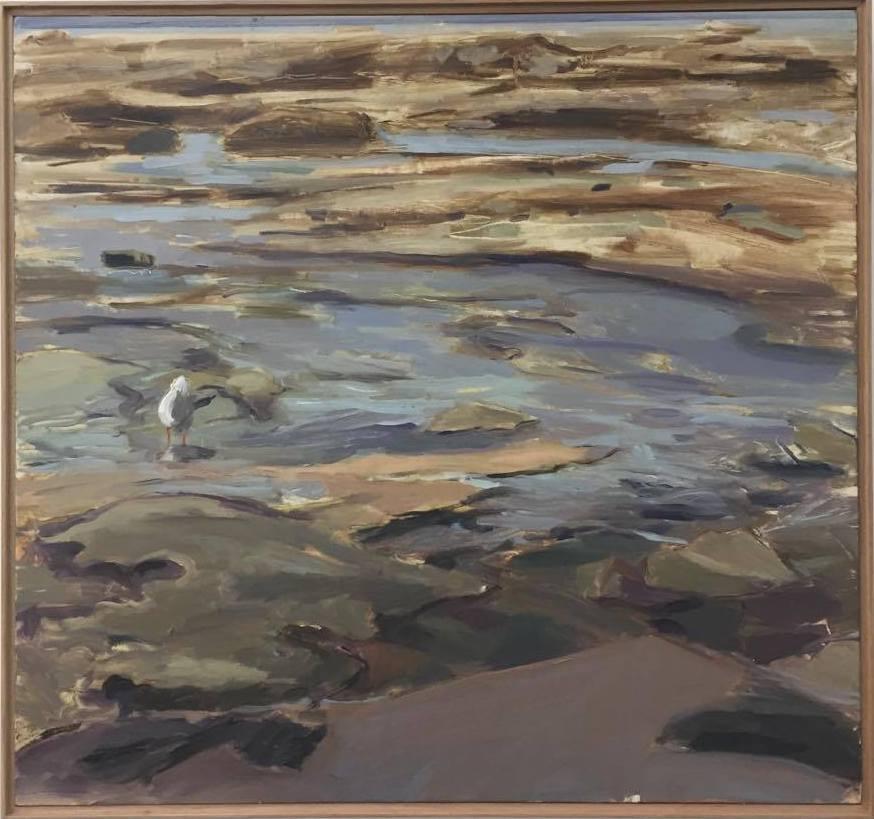 Bird Bath  2016 oil on hardboard 80 x 80cm  $980.00