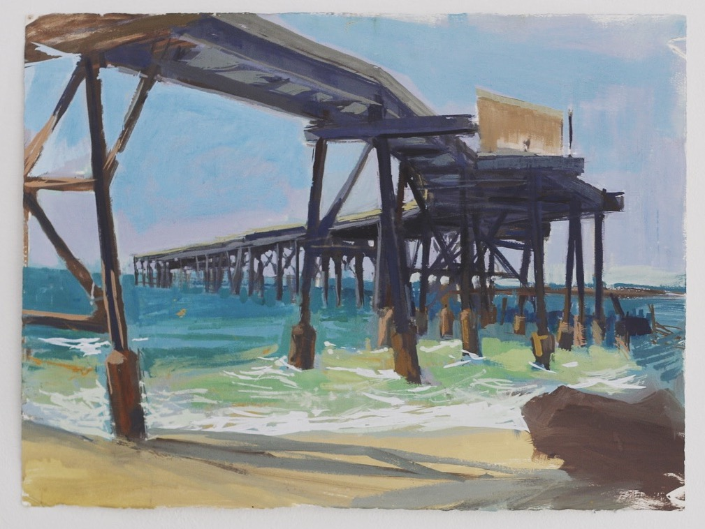 En plein air study (Catherine Hill Bay)  2016 gouache on arches paper 60 x 80cm  $350.00