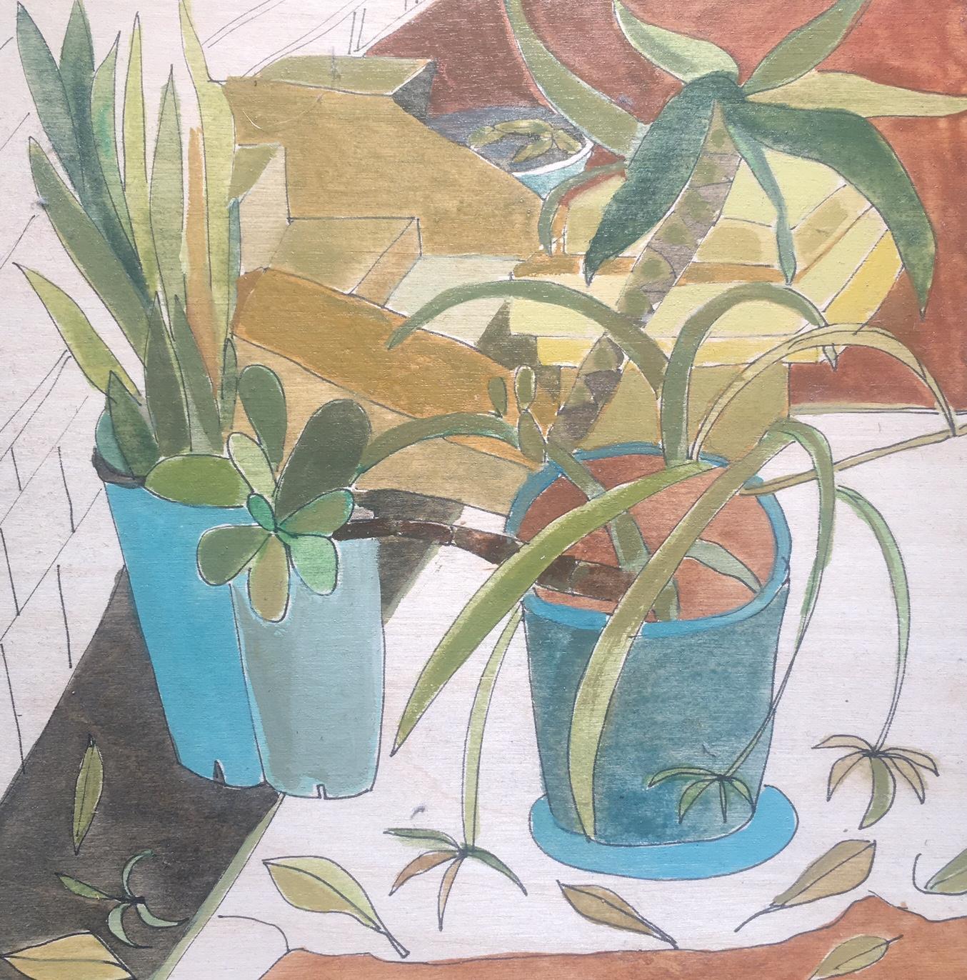 Lisa Pollard_Succulent_2017_watercolour and ink on board_20x20cm.jpg